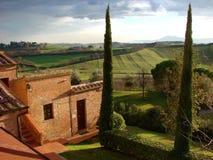 ιταλική βίλα της Τοσκάνης χωρών στοκ φωτογραφία