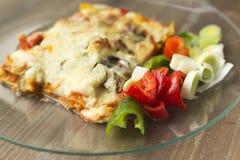 Ιταλική γαστρονομία αποκαλούμενη lasagna στοκ εικόνες με δικαίωμα ελεύθερης χρήσης