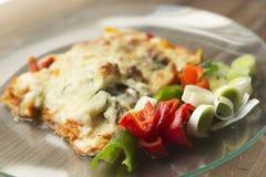 Ιταλική γαστρονομία αποκαλούμενη lasagna στοκ φωτογραφίες
