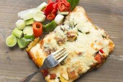 Ιταλική γαστρονομία αποκαλούμενη lasagna στοκ εικόνα με δικαίωμα ελεύθερης χρήσης