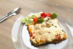 Ιταλική γαστρονομία αποκαλούμενη lasagna στοκ φωτογραφία με δικαίωμα ελεύθερης χρήσης