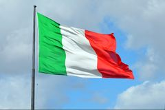 Ιταλική εθνική σημαία - Ιταλία Στοκ Φωτογραφίες