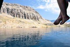 Ιταλική λίμνη λιμνών Garda πανοραμική Στοκ εικόνες με δικαίωμα ελεύθερης χρήσης