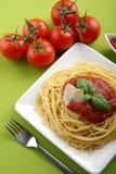 ιταλική ντομάτα μακαρονιών σάλτσας παρμεζάνας Στοκ Εικόνες