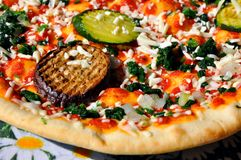 ιταλική πίτσα παραδοσια&kapp Στοκ Φωτογραφία