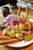 ιταλική σαλάτα antipasta Στοκ Εικόνες