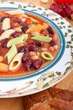 ιταλική σούπα minestrone Στοκ Φωτογραφία