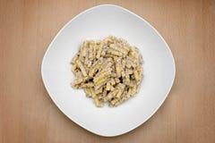 ιταλική τρούφα σάλτσας συνταγής ζυμαρικών στοκ εικόνες με δικαίωμα ελεύθερης χρήσης