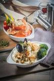 Ιταλική φωτογραφία κουζίνας του risotto Στοκ Φωτογραφίες