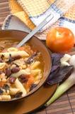 ιταλική macaroni φασολιών σούπα Στοκ εικόνα με δικαίωμα ελεύθερης χρήσης