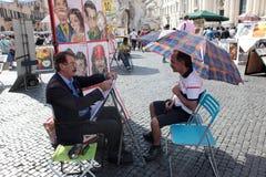 Ιταλικοί ζωγράφοι Στοκ φωτογραφία με δικαίωμα ελεύθερης χρήσης