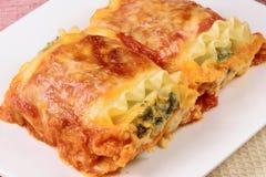 ιταλικοί ρόλοι lasagna στοκ εικόνες