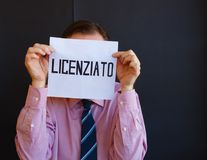 Ιταλικό άτομο απολυθε'ν Στοκ φωτογραφίες με δικαίωμα ελεύθερης χρήσης