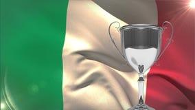Ιταλικό βίντεο σημαιών φιλμ μικρού μήκους