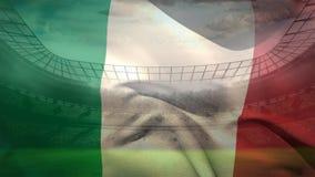 Ιταλικό βίντεο σημαιών απόθεμα βίντεο
