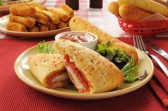 Ιταλικό γεύμα Στοκ φωτογραφία με δικαίωμα ελεύθερης χρήσης