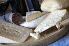 ιταλικό κρασί τυριών Στοκ φωτογραφία με δικαίωμα ελεύθερης χρήσης