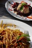 ιταλικό μεσημεριανό γεύμ&alpha Στοκ Εικόνα