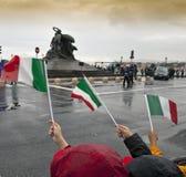 ιταλικό μνημείο garibaldi σημαιών μ&pi Στοκ εικόνες με δικαίωμα ελεύθερης χρήσης