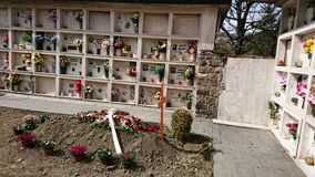 Ιταλικό νεκροταφείο στοκ φωτογραφία με δικαίωμα ελεύθερης χρήσης