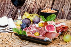 Ιταλικό πιάτο antipasti Στοκ Εικόνες