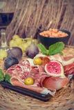 Ιταλικό πιάτο antipasti Στοκ Φωτογραφία
