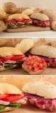 ιταλικό σάντουιτς Τοσκάνη prosciutto panin Στοκ Φωτογραφία