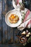 Ιταλικό carbonara ζυμαρικών Στοκ εικόνες με δικαίωμα ελεύθερης χρήσης
