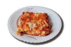 ιταλικό lasagna πιάτων χαρακτηρι& στοκ φωτογραφία με δικαίωμα ελεύθερης χρήσης