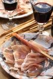 ιταλικό prosciutto ζαμπόν Στοκ Εικόνες