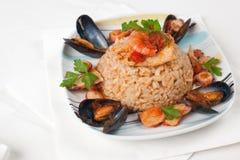 ιταλικό risotto pescatora alla Στοκ Εικόνες