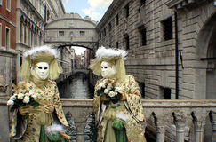 Ιταλία †«γέφυρα Venezia - καρναβαλιού - Sospiri Στοκ φωτογραφία με δικαίωμα ελεύθερης χρήσης