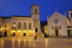Ιταλία †«Norcia - εκκλησία SAN Benedetto Στοκ Εικόνες