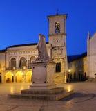 Ιταλία †«Norcia - η εκκλησία του ST Benedict Στοκ εικόνα με δικαίωμα ελεύθερης χρήσης