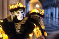 Ιταλία †«Venezia - κίτρινη μάσκα Στοκ Εικόνες