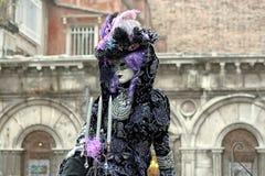 Ιταλία †«Venezia - κίτρινη μάσκα Στοκ Εικόνα