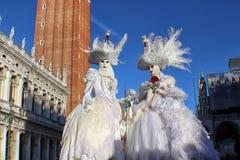 Ιταλία †«Venezia - μάσκες κύκνων στο SAN Marco Στοκ φωτογραφίες με δικαίωμα ελεύθερης χρήσης