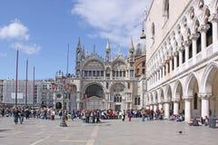 Ιταλία Βενετία Βασιλική του σημαδιού του ST και Doge παλάτι Στοκ Εικόνες
