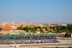 Ιταλία Βενετία Η άποψη της πόλης από το ύψος Στοκ φωτογραφία με δικαίωμα ελεύθερης χρήσης