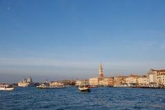 Ιταλία Βενετία Πανοραμική άποψη της Βενετίας, μεγάλο κανάλι Στοκ Εικόνες