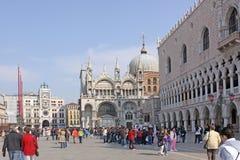 Ιταλία Βενετία Τετράγωνο SAN Marco και Doge παλάτι Στοκ Εικόνες