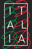 Ιταλία Γραφικό σχέδιο τυπογραφίας της Ιταλίας Στοκ φωτογραφίες με δικαίωμα ελεύθερης χρήσης