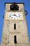 Ιταλία Λομβαρδία ο παλαιός πύργος ST τούβλου του Antonino santo Στοκ Εικόνες