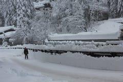Ιταλία Να κάνει σκι στην οδό Στοκ Εικόνες