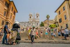 Ιταλία - Ρώμη - ισπανικά βήματα Στοκ Φωτογραφίες