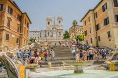 Ιταλία - Ρώμη - ισπανικά βήματα Στοκ Φωτογραφία