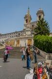 Ιταλία - Ρώμη - ισπανικά βήματα Στοκ φωτογραφία με δικαίωμα ελεύθερης χρήσης