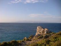 Ιταλία, Σαρδηνία, άποψη του νησιού και της θάλασσας Στοκ φωτογραφία με δικαίωμα ελεύθερης χρήσης