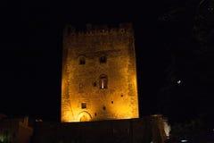 Ιταλία Σικελία Άδρανο τή νύχτα Στοκ εικόνες με δικαίωμα ελεύθερης χρήσης