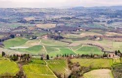 Ιταλία Τοσκάνη Θαυμάσια εκστρατεία της επαρχίας περιοχών σε Spri στοκ φωτογραφίες με δικαίωμα ελεύθερης χρήσης